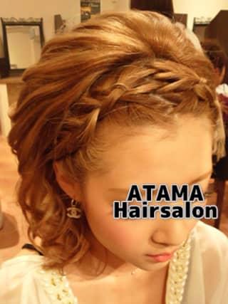 タニヤATAMAサロンのヘアメ編み込みイメージ