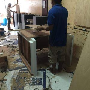 バンコクATAMAサロンの店舗内器具機械自作