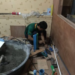 バンコクATAMAサロンのエアコン配管工事