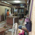 タニヤのアゲハビルの4階にある制作中美容室の工事内容