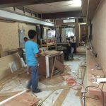タニヤにある新店舗ヘアーサロンの工事現場