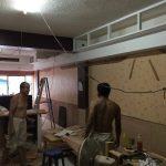 タニヤにあるATAMAヘアサロンの棚取り付け工事