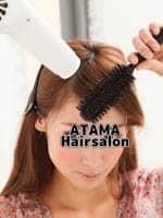 バンコクATAMAヘアーサロンの前髪ブローイメージ