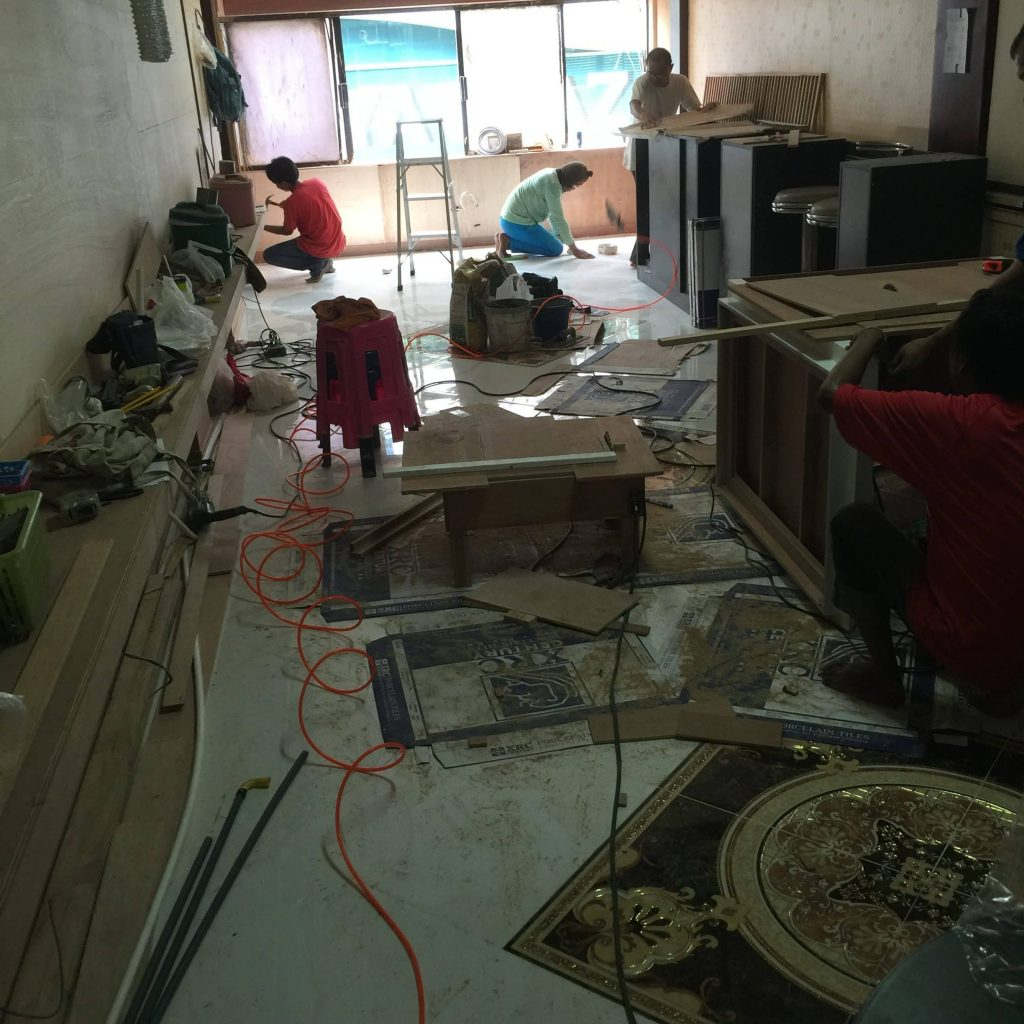 バンコクATAMAサロン新店舗工事現場