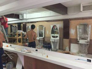 バンコクATAMAヘアーサロンの工事内容