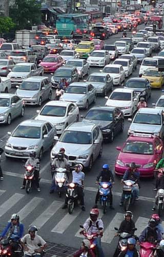 バンコクATAMAヘアーサロンの渋滞イメージ